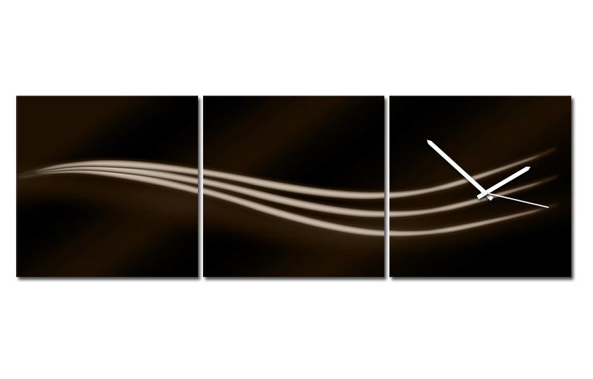 Hodiny na plátně - Tři vlnky hnědé