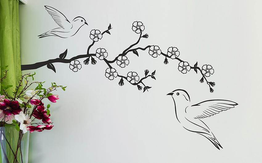 Samolepky na zeď květiny