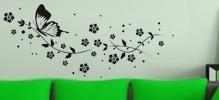 Samolepky na zeď Moderní květinové motivy